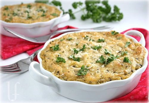 "quinoa, broccoli & cheese casserole; includes a recipe for ""condensed cream of anything soup"""