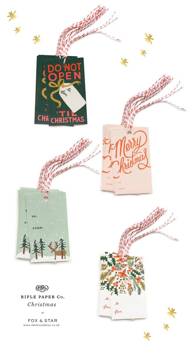 Rifle Paper Co Christmas gift tags - a stylish finishing touch