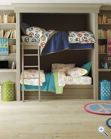 bunk beds + desks