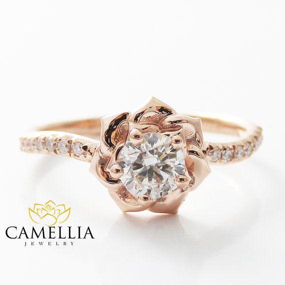 Wedding rings flowers  Best 20+ Flower engagement rings ideas on Pinterest | Beautiful ...