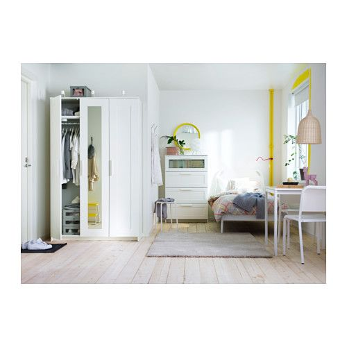 BRIMNES Wardrobe with 3 doors - white - IKEA