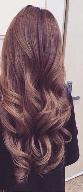 Long soft curls