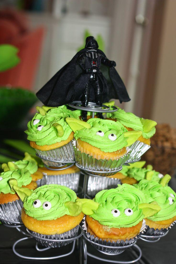 Yoda Cupcakes Star Wars Party Food Star Wars Cupcakes