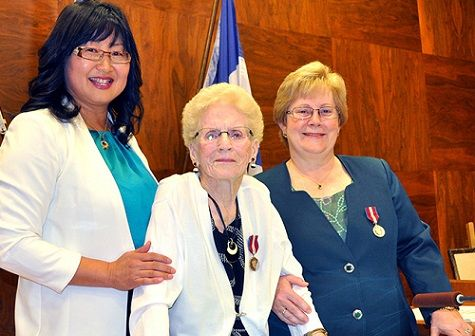 Dr. Shelley Ross was given the medal last week by Conservative Senator Yonah Martin at a ceremony in New Westminster City Hall.