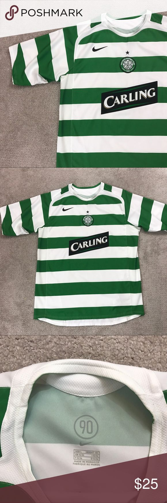 Celtic Soccer Jersey Awesome Nike Celtic soccer jersey size large! Great condition! Some wear in the area where the security tag was attached as shown! Nike Shirts