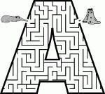 Labyrinthe pour chaque lettre de l'alphabet.  Très intéressant avec le TNI.
