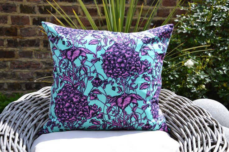 Large Fuschia Flower Cushion Cover £22.00