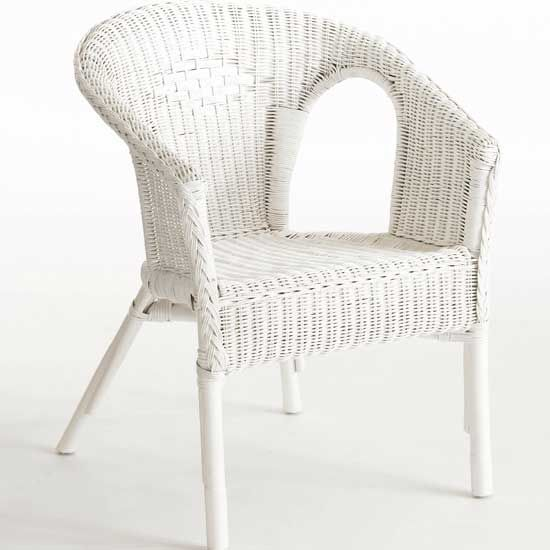 White Wicker Dining Chairs: White Wicker Chair