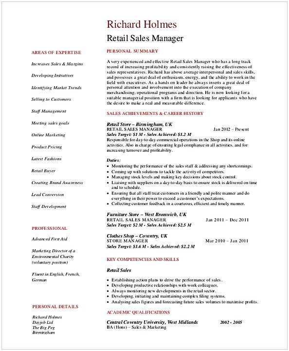 The 25+ best Retail manager ideas on Pinterest Information - retail manager resume template
