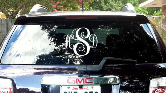 Check out this item in my Etsy shop https://www.etsy.com/listing/238208936/monogrammed-vinyl-for-vehicles-3-letter