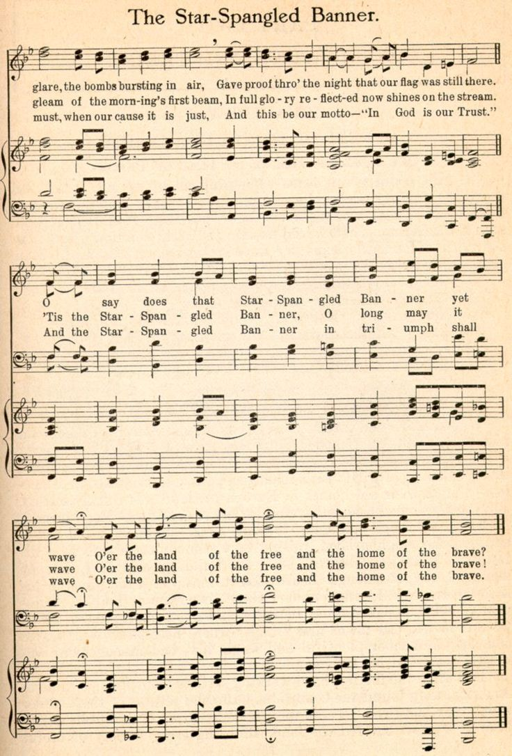 The Star Spangled Banner By Francis Scott Key Written In