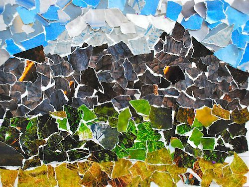 Mt Kilimanjaro Collage- Kid World Citizen...Colorful Collages of the World's Natural Wonders