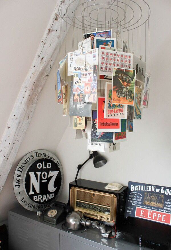How to display postcards at home.