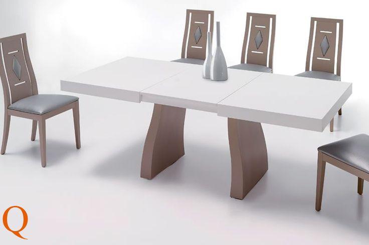 Conjunto de mesa comedor 140 x 90 cm 2 extensibles 50 cm for Mesas comedor sevilla