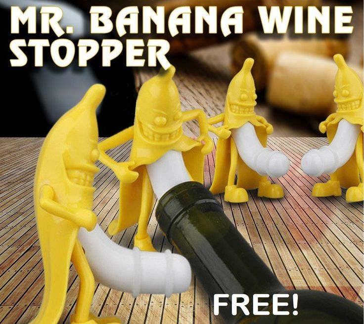 This is so funny! FREE Mr. Banana Wine Stopper (just pay shipping)! Get it NOW!