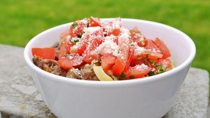 Polskie South Beach: Makaron z wołowiną i pomidorami