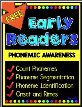 No Prep Phonemic awareness: phonemic awareness lessons segmentation, onset, rimes, and count phonemes for early readers. Phonemic awareness activities for small group, literacy centers, homework, and seatwork. COUNT & SEGMENT PHONEMES: ◼School themed sound boxes (3 versions of each: