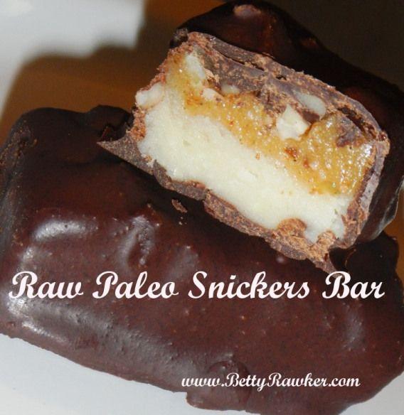 Raw Paleo Snickers Bar  @Beth Rubin Rawker