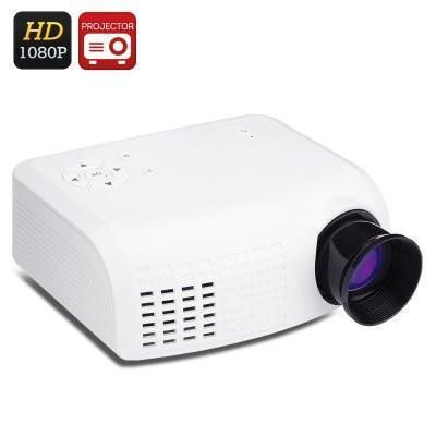 LED Projector, Keystone Mini LCD Projector, Micro SD Card
