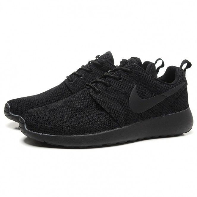 Nike Roshe Run Splatter Pack Running Shoes All Black