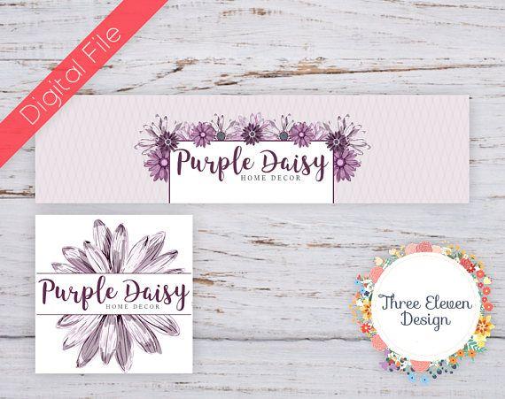 Purple Daisy Etsy Shop Branding