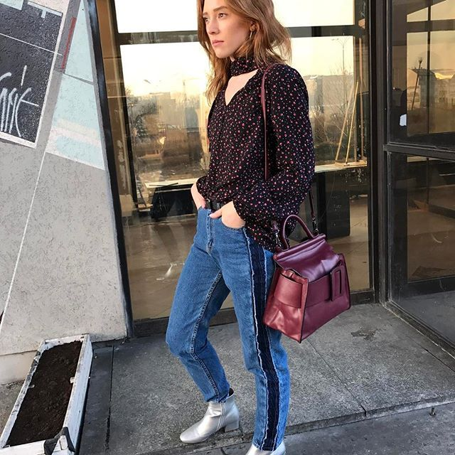 Mega stylowa Claudia w bluzce Sara, uwielbiamy❤️ #gadhion #style #ootd #blackbow #viscose #blouse