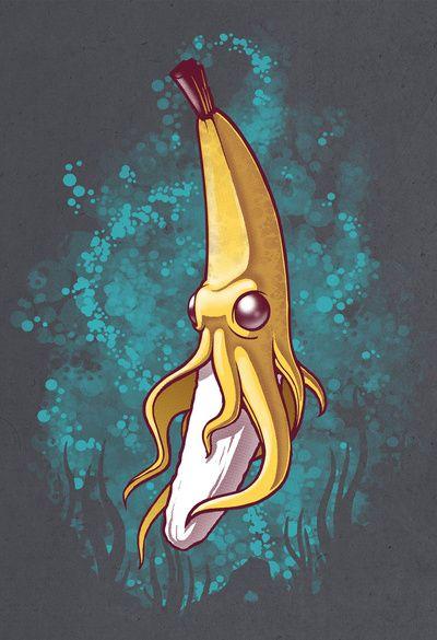 Banana Squid!!!  by Chump Magic. This made me laugh. Funny seeing a nana as a squid