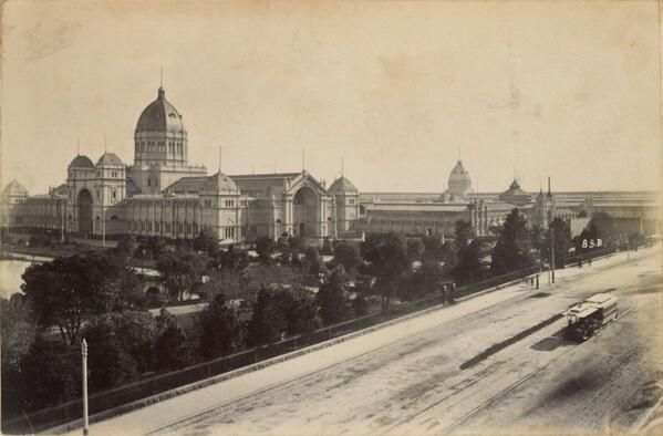 Melbourne's Royal Exhibition buildings, c.1880