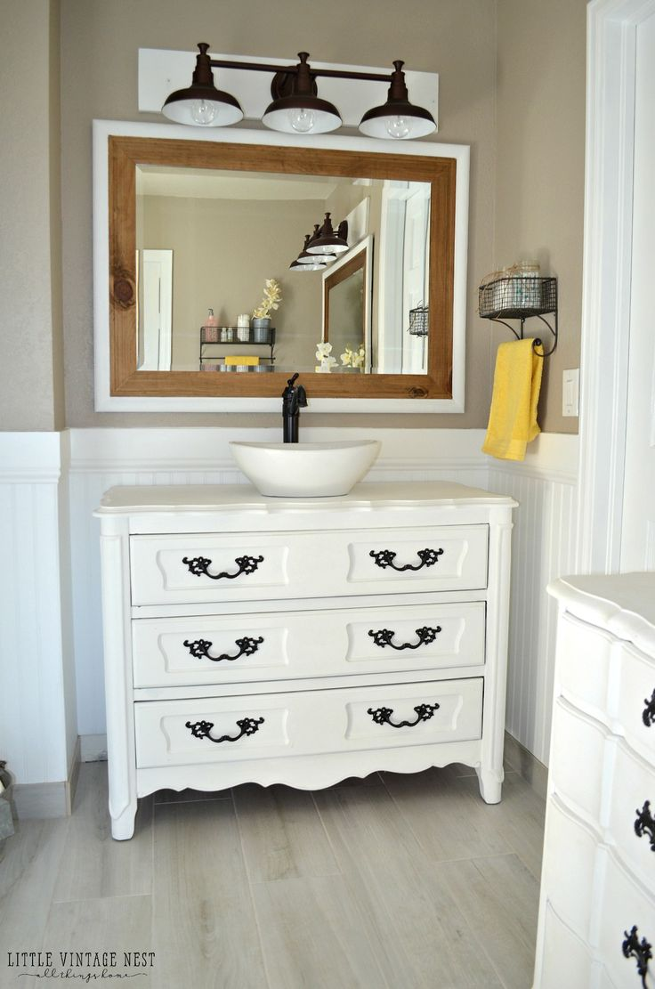 Today I am sharing the step-by-step process we used to turn an old dresser into a bathroom vanity. We used this process on two dressers for our master bathroom renovation and I could not be happier with how they turned out. Please keep in mind we are not experts, this is simply the process we used. I'm sure …
