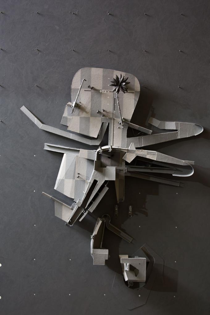 AMP no. 003 maqueta. Dirty Geometries + Mechanical Imperfections, Bryan Cantley. Imagen © Bryan Cantley. Fotografía © Matt Gush. Señala encima de la imagen para verla más grande.