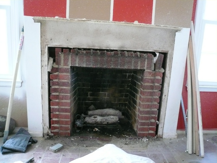 Before Baublits Fireplace Pinterest