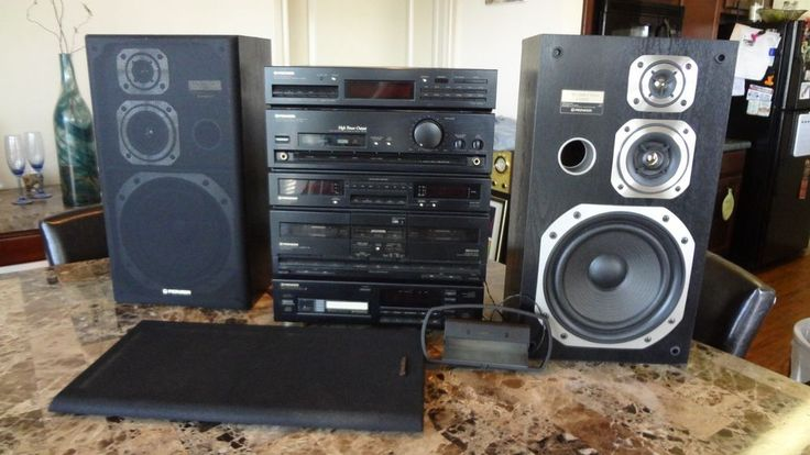 Pioneer Stereo 6 Piece Tuner F-793 Stereo Cassette DC-Z83 6-Disc Changer PD-Z83M #Pioneer
