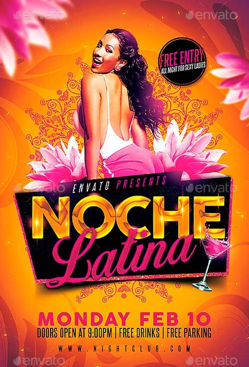 Noche Latina Party Flyer - http://ffflyer.com/noche-latina-party-flyer/ Noche Latina Party Flyer - Super easy to edit, all well organized in folders with names, you can easily change Texts, Colors, Add/Remove objects to this layered PSD.  Is very simple add your own image.  All text can be edited.     #Club, #Dance, #Dj, #Electro, #Elegant, #Latin, #Latina, #Night, #Nightclub, #Party, #Sexy, #Social