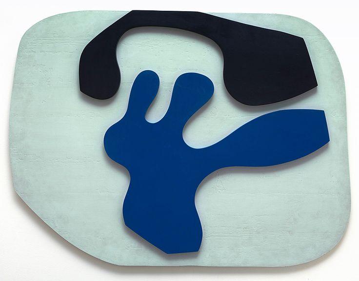 Collection Online | Jean Arp. Overturned Blue Shoe with Two Heels Under a Black Vault (Soulier bleu renversé à deux talons, sous une voûte noire). ca. 1925 - Guggenheim Museum