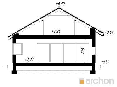 projekt Dom w peperomiach 2 przekroj budynku