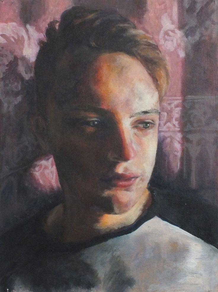Jasmyn - Oil on board  Truro College - A Level Fine Art Coursework Show