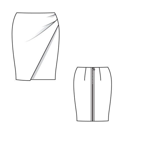 Юбка - выкройка № 145 из журнала 3/2013 Burda – выкройки юбок на Burdastyle.ru