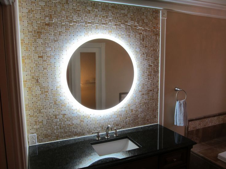 Round Bathroom Mirror With Led Lights
