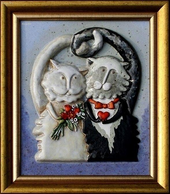 obraz ceramiczny, majolika Danuta Rożnowska-Borys