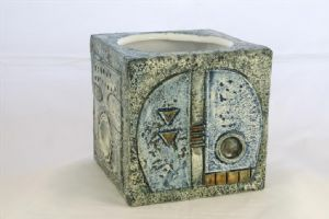Troika Cube Vase / Flower Pot - Teo Bernatowitz