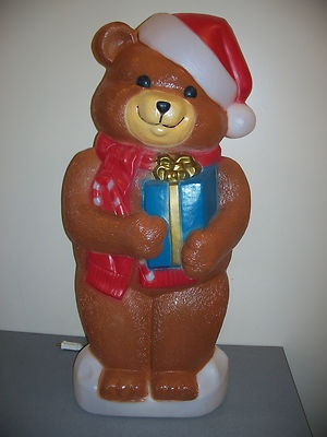 "Christmas Blow Molds >> New blow mold yard decoration christmas bear giant 34"" plastic light up 