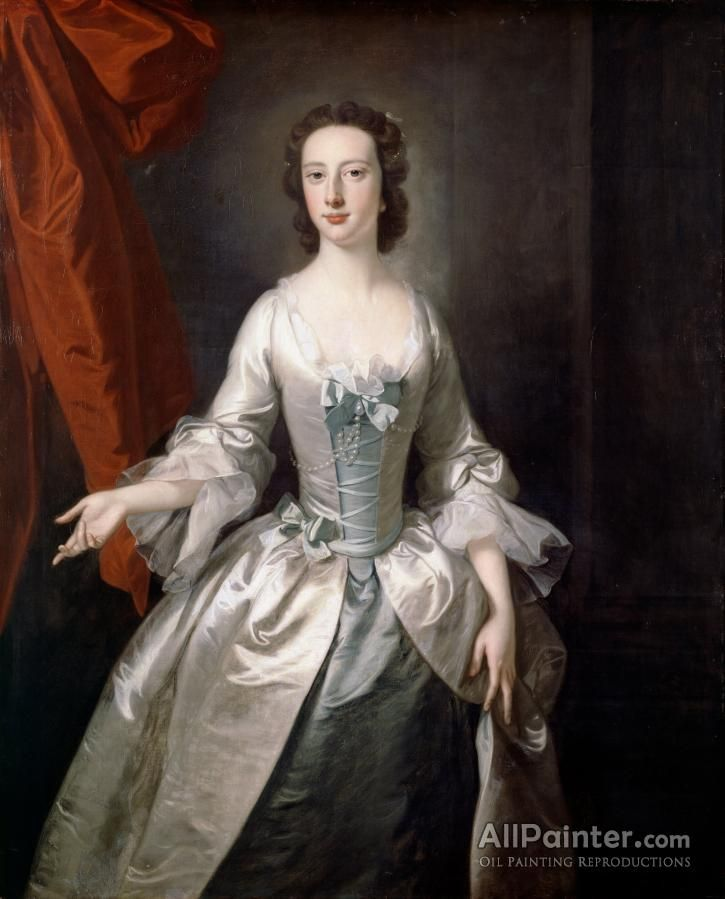 Thomas Hudson,Portrait Of A Lady Ii oil painting reproductions for sale