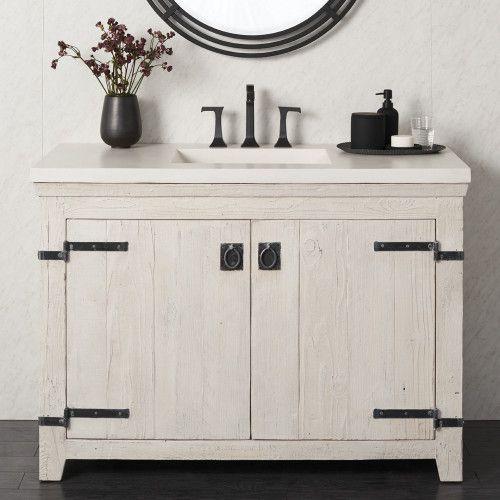 "48"" Americana Bathroom Vanity in Whitewash (VNB480)"