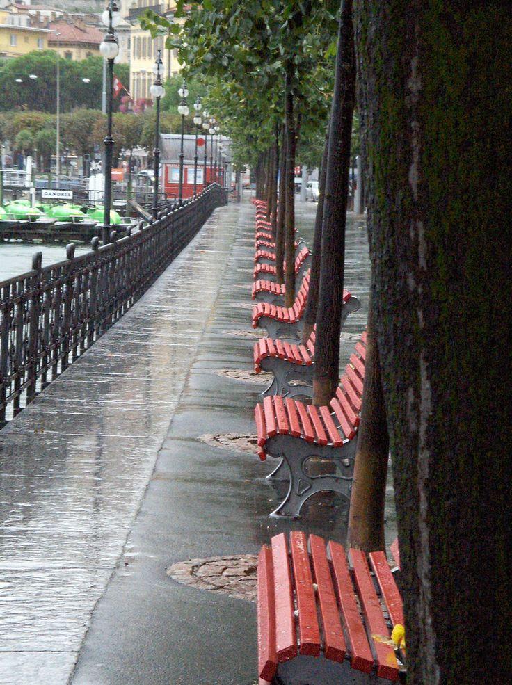 Rainy benches