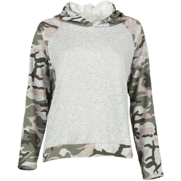 Boohoo Sasha Camo Raglan Sleeve Hoody | Boohoo ($16) ❤ liked on Polyvore featuring tops, hoodies, hoodie top, camouflage hoodie, hooded sweatshirt, camouflage top and camo hooded sweatshirt