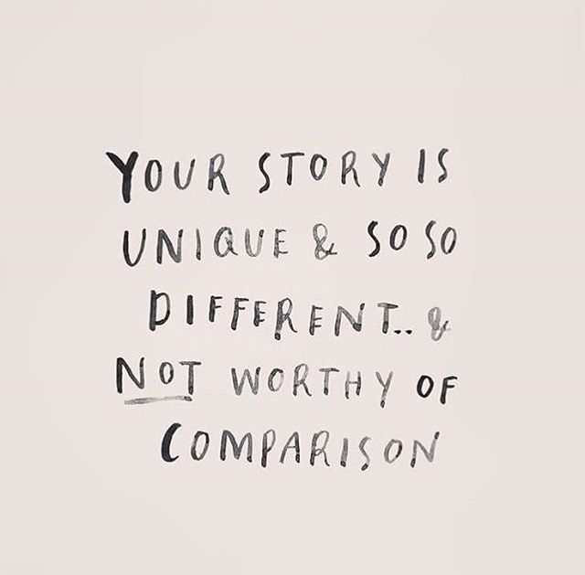 So true. Let's not compare ourselves for even if our stories may look to be similar are so different. So let's live our lives wanting to please the Author of our story. ✋️