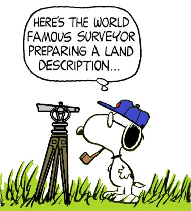 Snoopy as The World Famous Land Surveyor