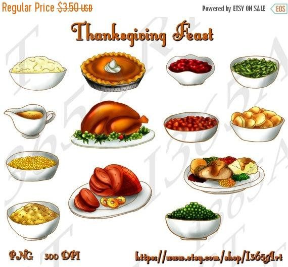 Happy #Thanksgiving #Holiday Feast Food #clipart #graphics Download by I365art https://www.etsy.com/listing/168075456/50-off-thanksgiving-feast-clipart?utm_content=buffer84b23&utm_medium=social&utm_source=pinterest.com&utm_campaign=buffer #etsy #printable #papercraft #png