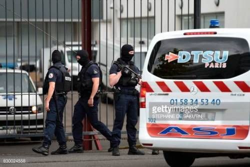 08-27 French special police officers stand guard at the... #perret: 08-27 French special police officers stand guard at the… #perret