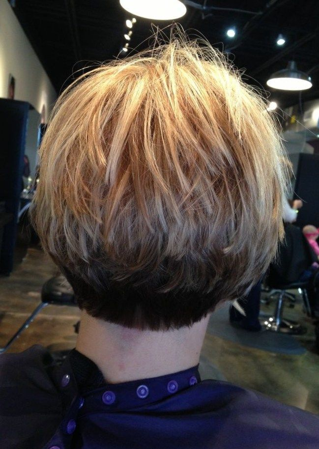 Stacked Bob Fine Hair Inverted Stacked Bob Hair Cut In